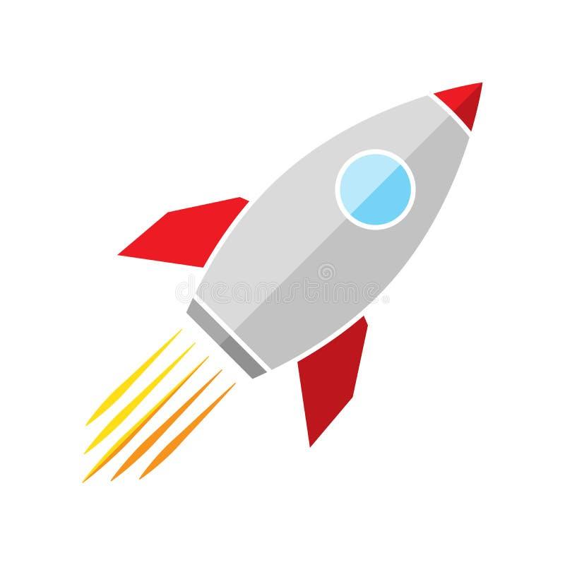 Vector Rocket icon stock illustration