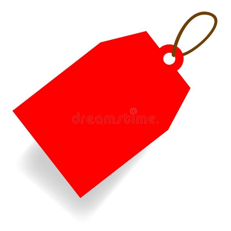 Vector Rode Dof rechthoek Lege Markering met zachte schaduw vector illustratie