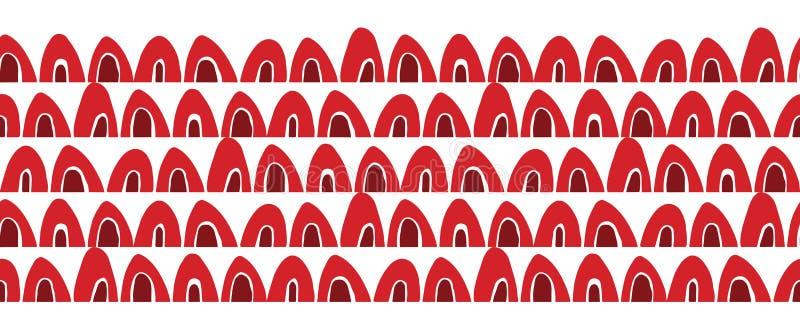 Vector rode en depp rode abstracte geometrische grens stock illustratie