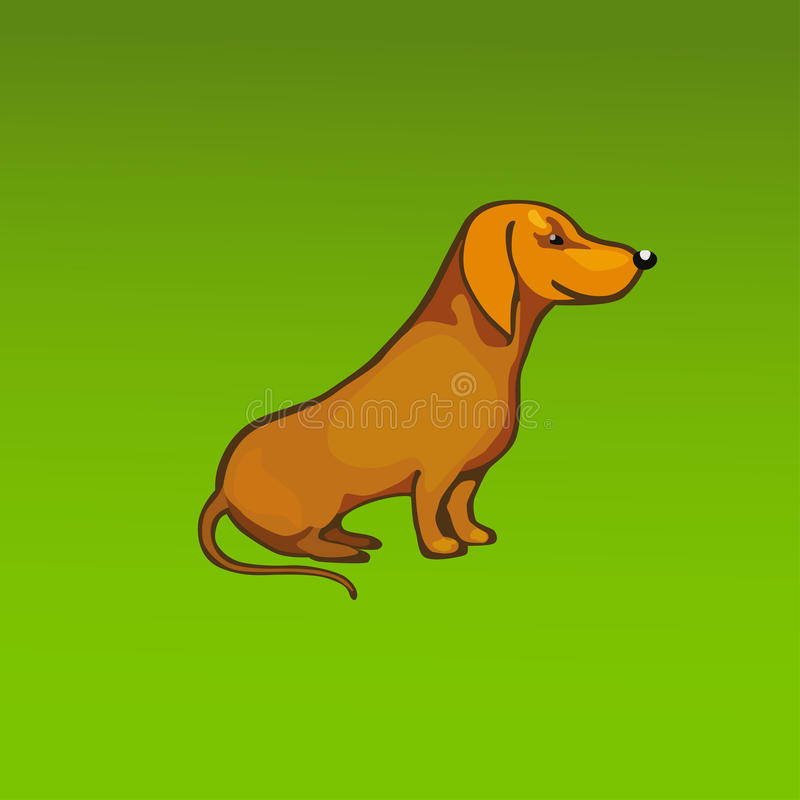 Vector rode hond royalty-vrije stock foto