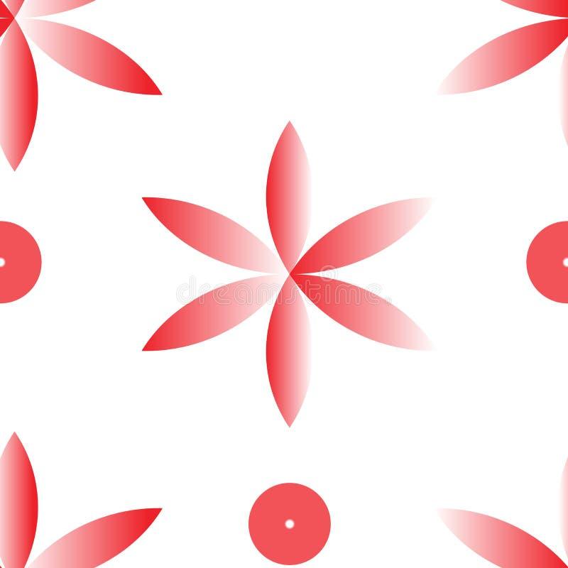 Vector rode naadloze fllower herhaalt patroon vector illustratie