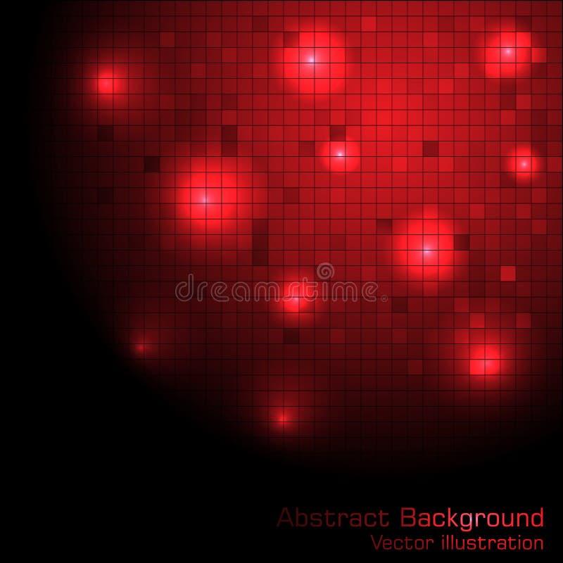 Vector rode technologieachtergrond vector illustratie