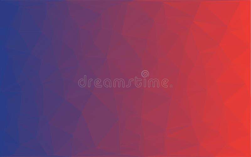 Vector rode violette achtergrond van het veelhoek de Abstracte mozaïek stock illustratie
