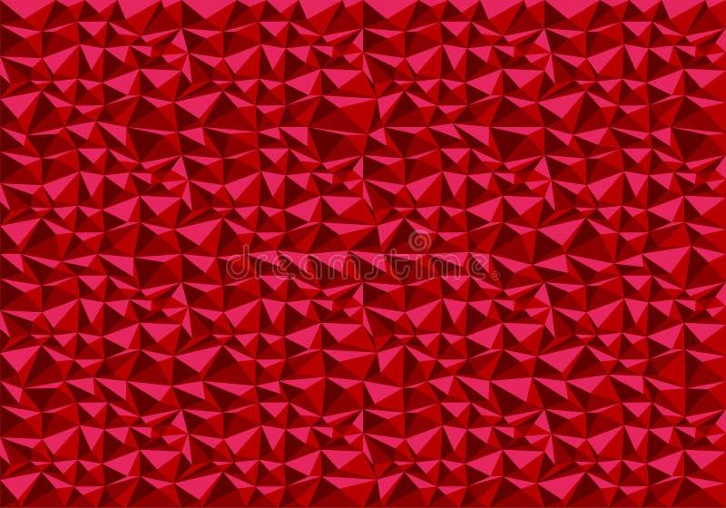 Vector rojo abstracto de la textura del fondo del modelo del polígono stock de ilustración