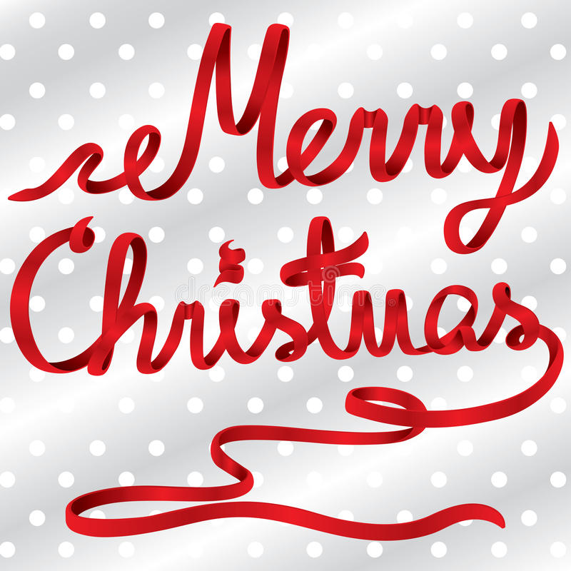 Vector rojo de la Feliz Navidad de la cinta libre illustration