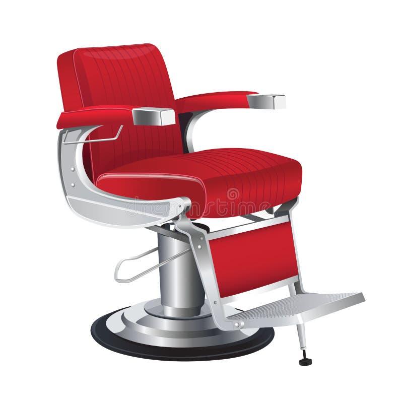 Vector rojo de la silla de peluquero ilustración del vector