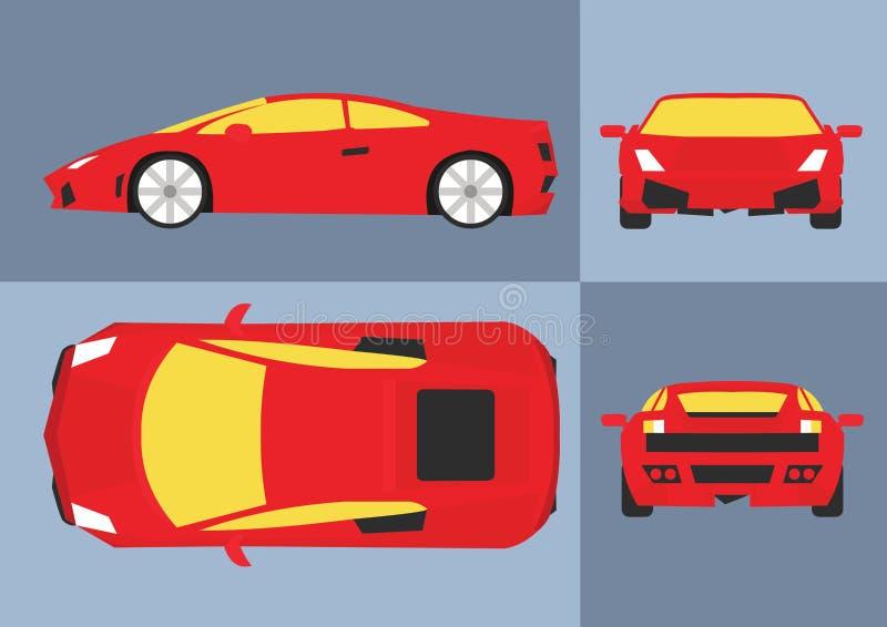 Vector rojo del coche ilustración del vector