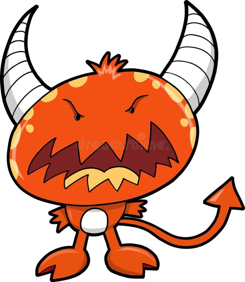 Vector rojo del diablo del monstruo stock de ilustración