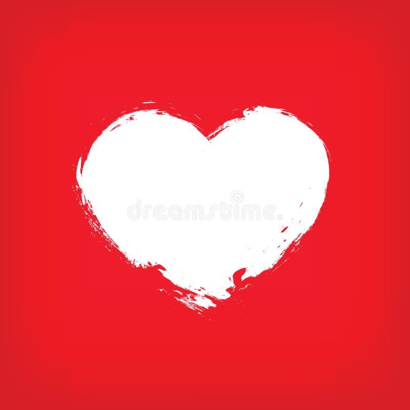 Vector rojo del fondo del grunge del amor fotografía de archivo libre de regalías