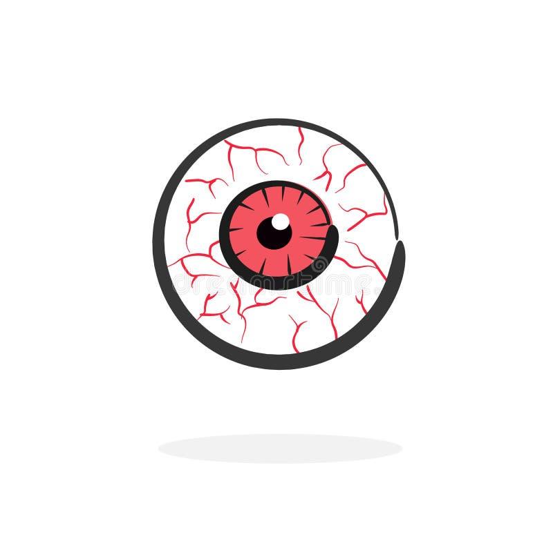 Vector rojo del ojo de la sangre libre illustration
