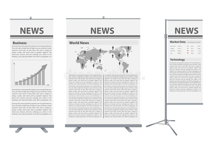 Vector Roll Up Banner Stand Stock Photography