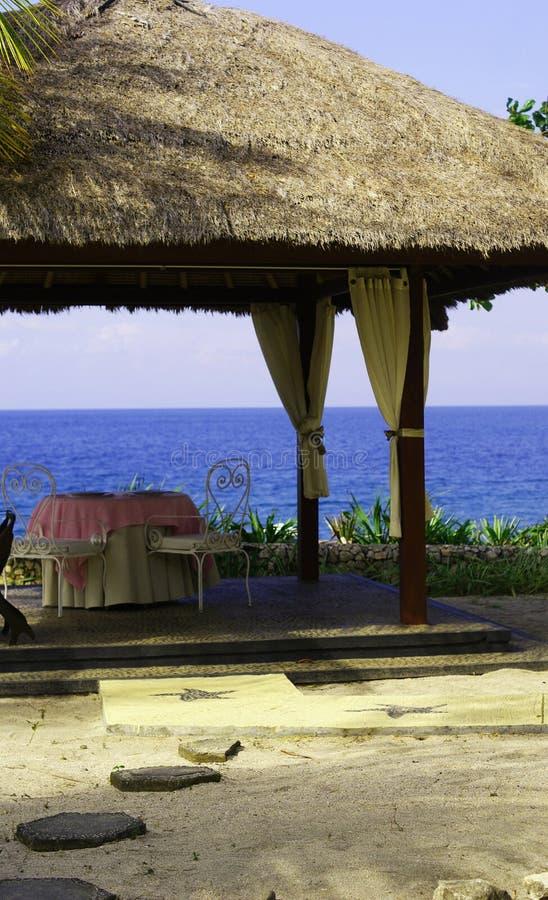 Vector romántico del almuerzo de la playa imagen de archivo libre de regalías