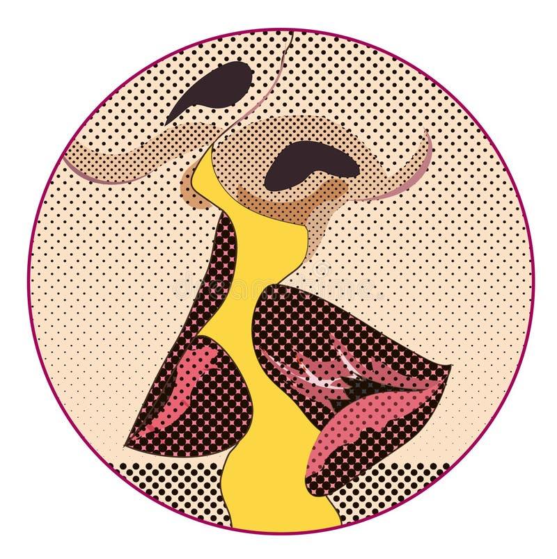 Vector romantisch teken of banner, kussend paar, liefde en tederheid, vector illustratie