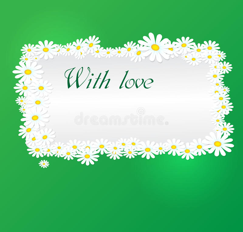 Vector romantische achtergrond vector illustratie