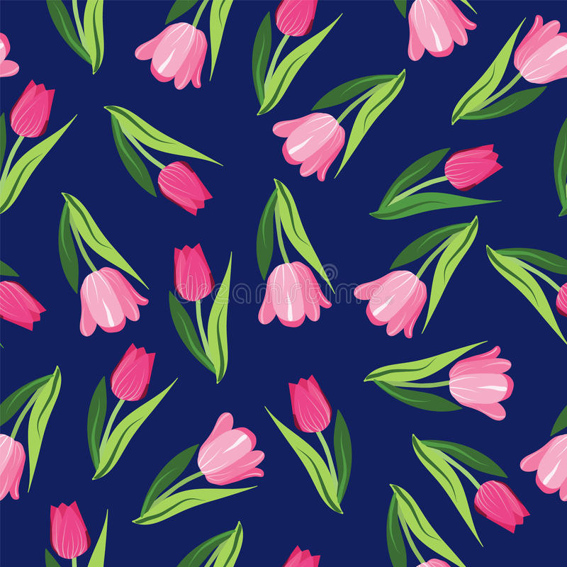 Vector Romantische hand getrokken achtergrond met tulpen vector illustratie