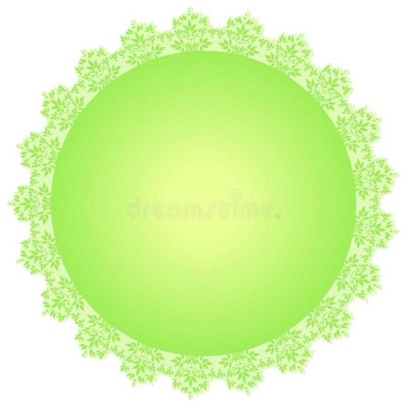 Vector rond groen kader stock illustratie