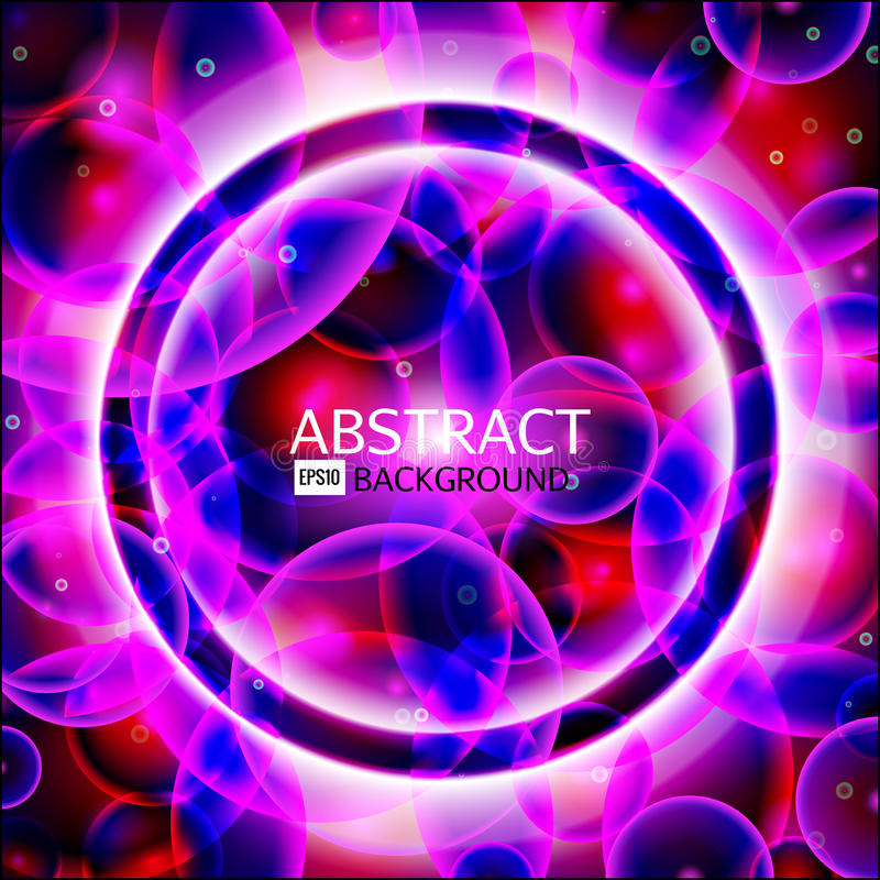 Vector rond kader Glanzende cirkelbanner Gloeiende spiraal Vector illustratie Roze, purpere, blauwe, witte kleuren vector illustratie