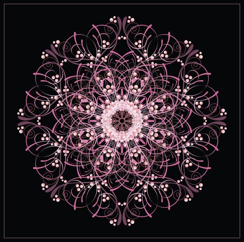 Vector rond oosters uitstekend patroon royalty-vrije illustratie