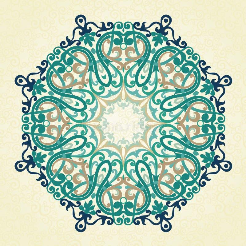 Vector rond ornament in Victoriaanse stijl vector illustratie