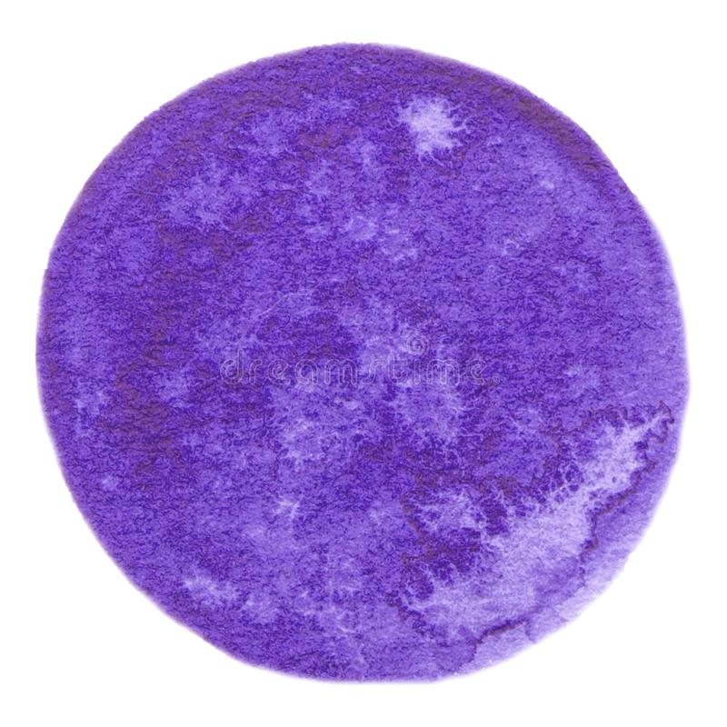 Vector rond paarse verftextuur die op wit voor Uw ontwerp wordt geïsoleerd royalty-vrije stock afbeelding