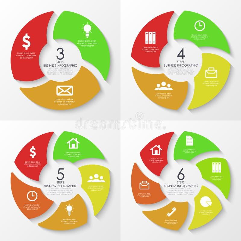 Vector ronde infographics Malplaatje voor cirkeldiagram royalty-vrije illustratie