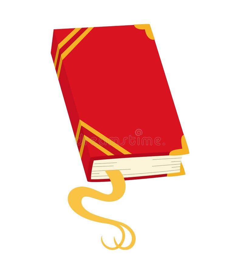 Vector rood boekpictogram Notitieboekje met referentie vector illustratie