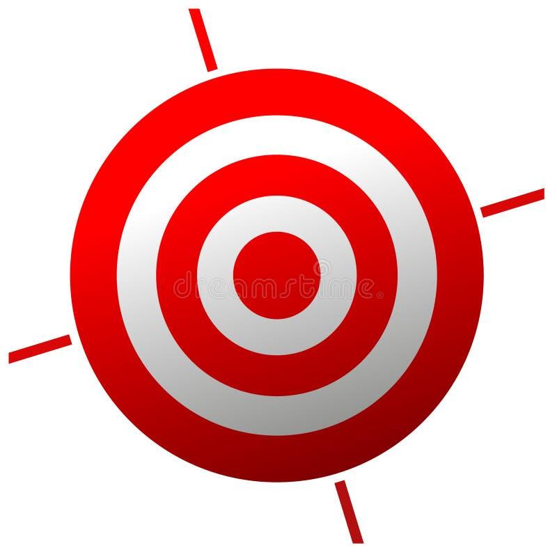 Vector rood doel royalty-vrije illustratie