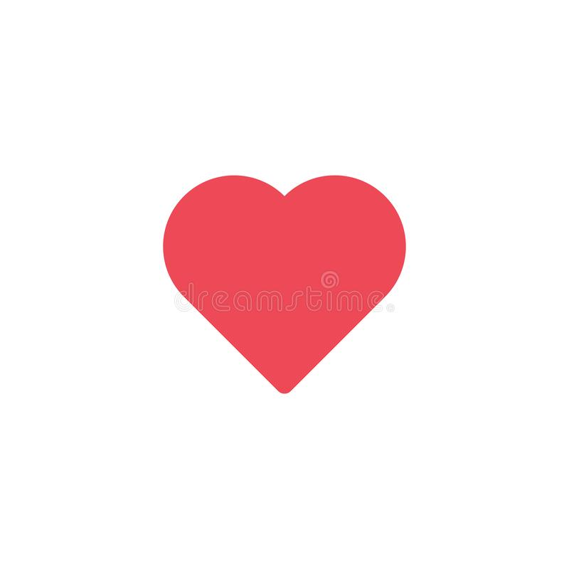 Vector rood hartpictogram De vorm van het hart De Dag van Valentine ` s van het liefdesymbool Element voor de mobiele toepassingi vector illustratie