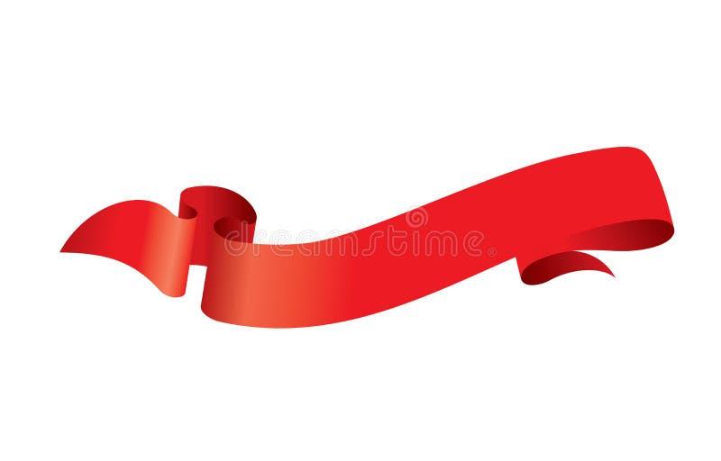 Vector rood lint vector illustratie