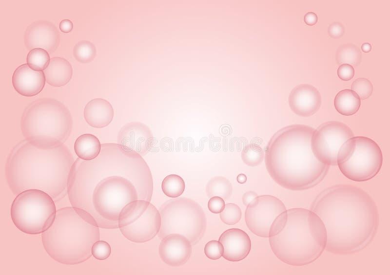 Vector rosado de las burbujas stock de ilustración