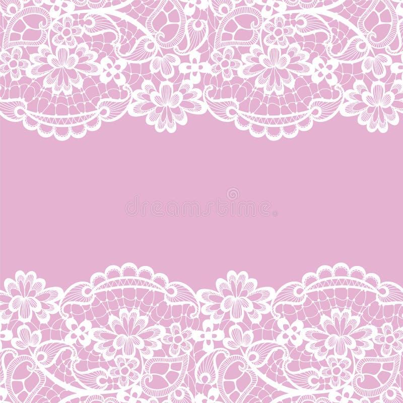 Vector rosado del fondo del cordón ilustración del vector