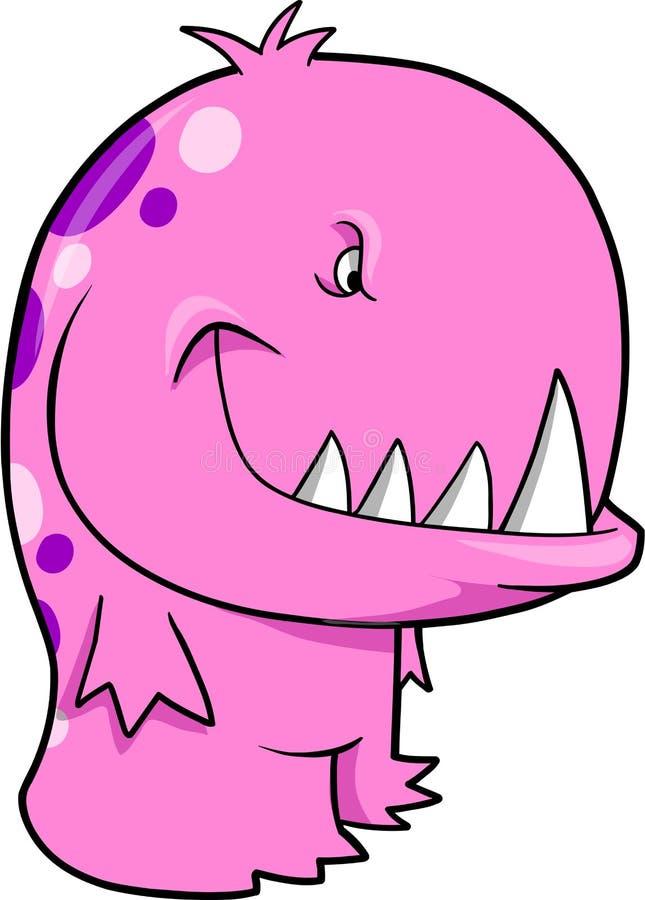 Vector rosado del monstruo stock de ilustración