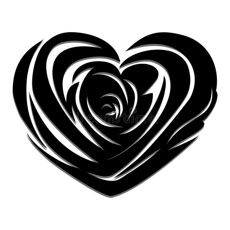 Vector rose heart royalty free illustration