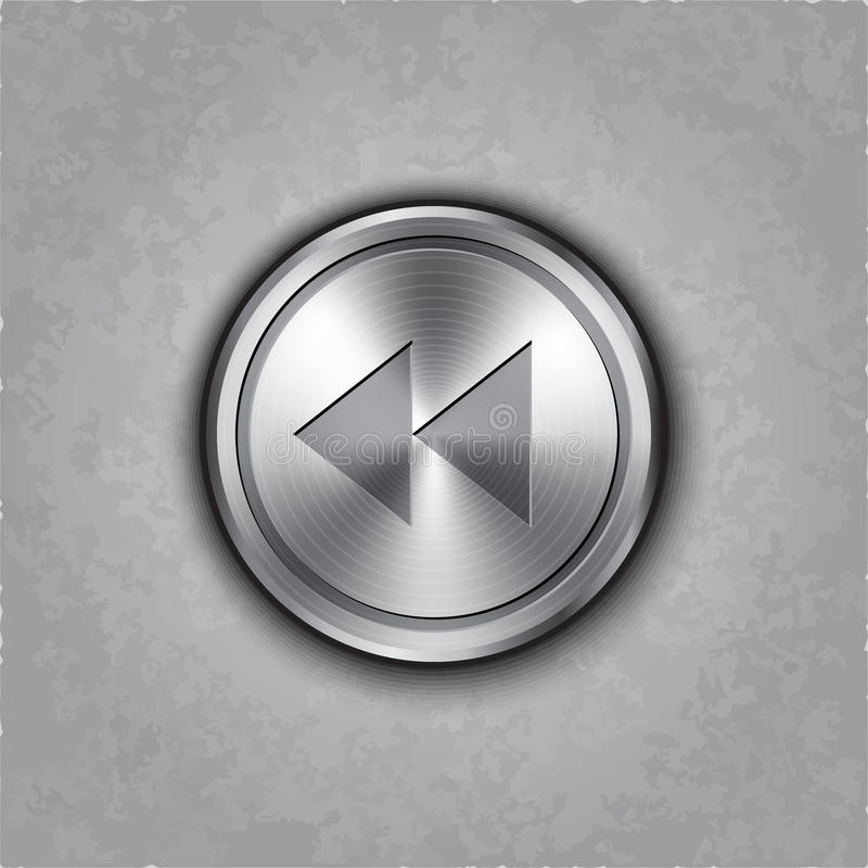 Free Vector Round Metal Backward Rewind Knob Stock Images - 37513774