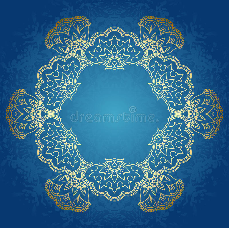 Download Vector round ornament. stock vector. Image of fabric - 27771541