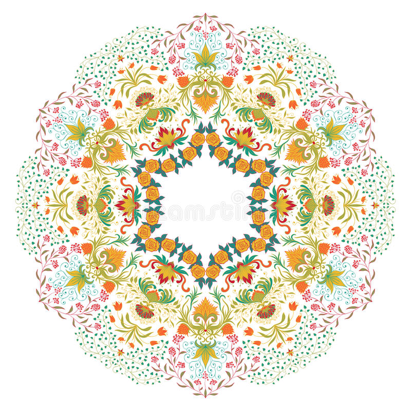 Download Vector round ornament. stock vector. Illustration of fabric - 29638444