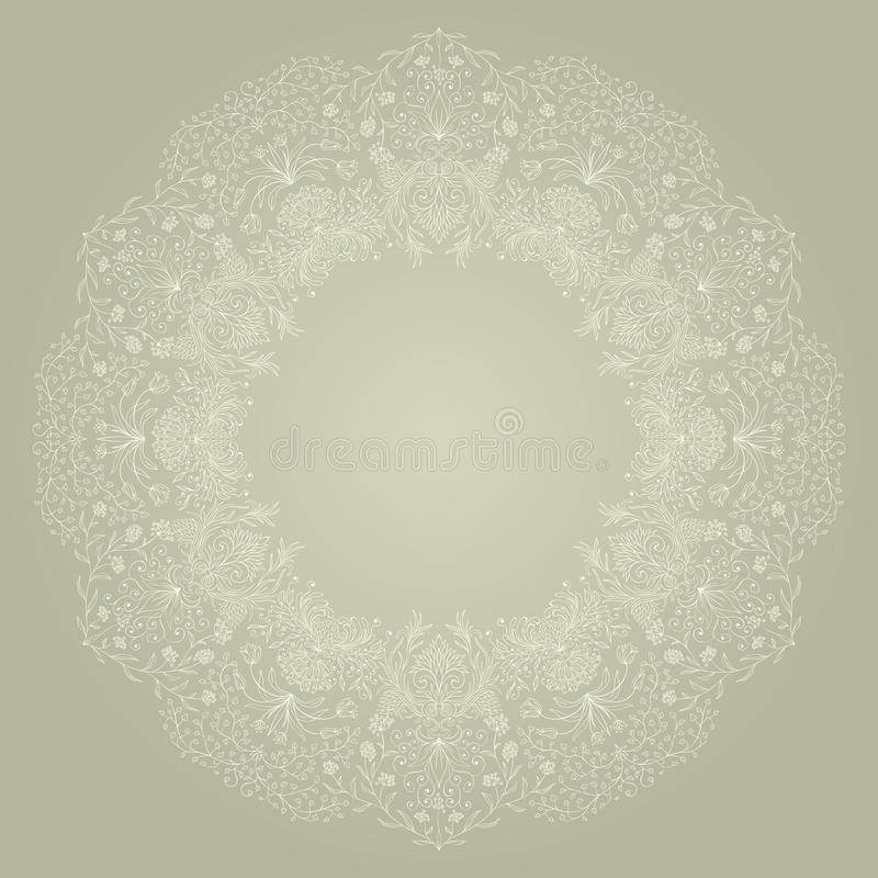 Download Vector round ornament. stock vector. Image of holiday - 29638484