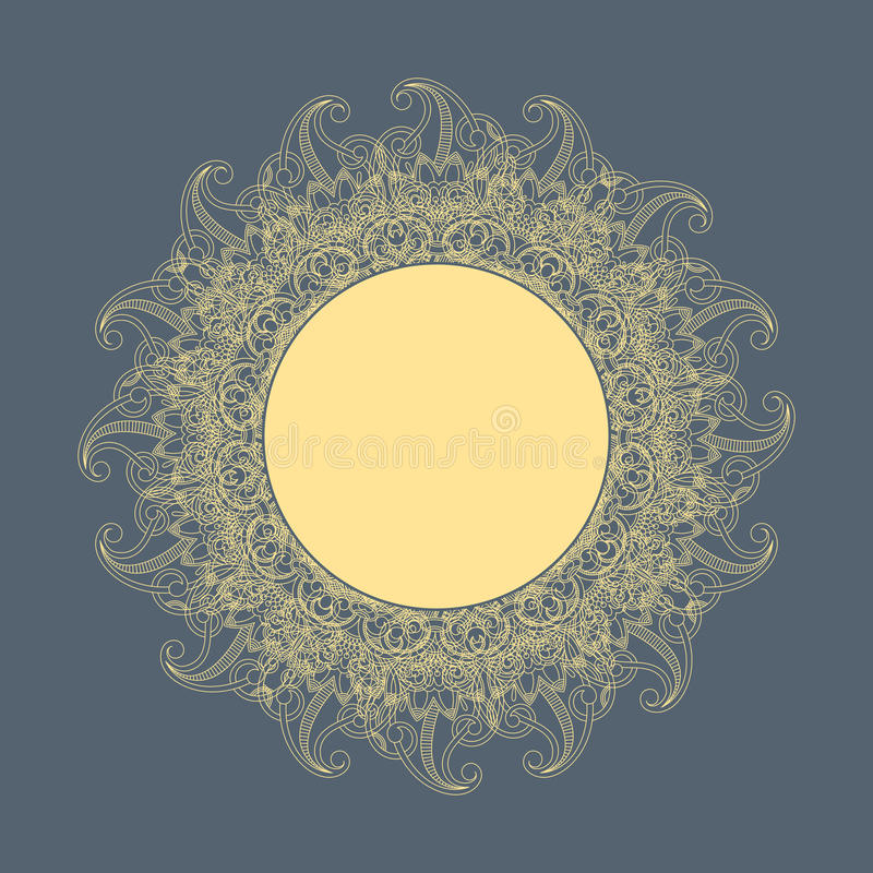 Vector round ornament (sun). royalty free stock image