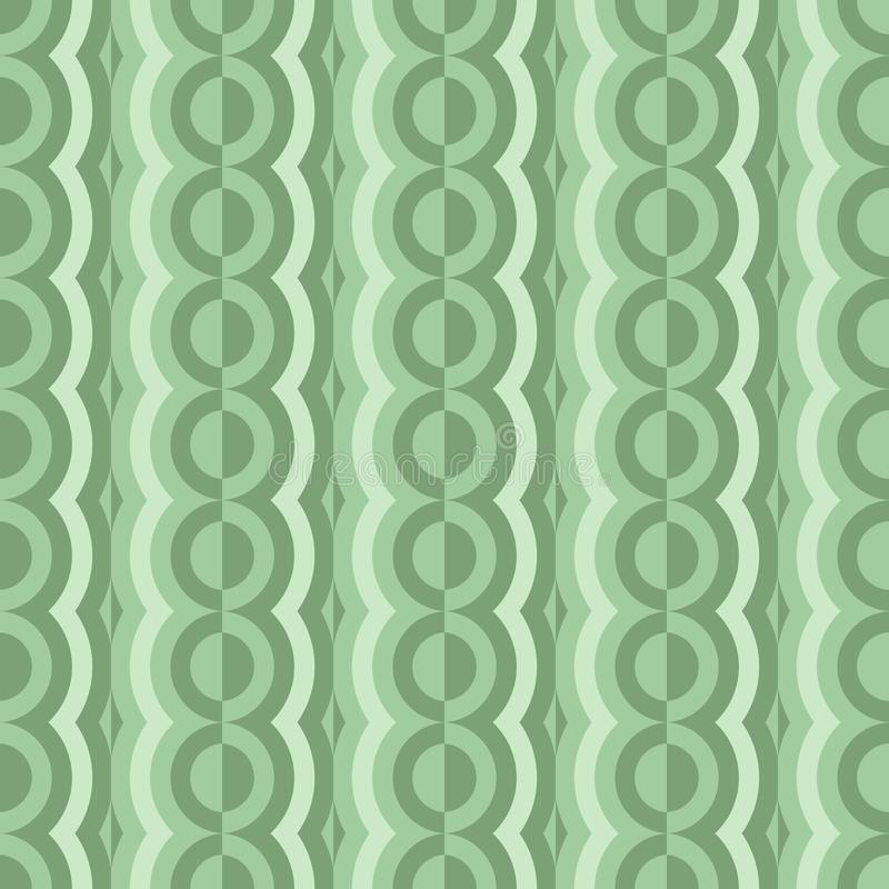 Vector rounded seamless pattern with contrast elements. Retro abstract geometric garlands for textile, prints, wallpaper, wrapping. Paper, web etc stock illustration