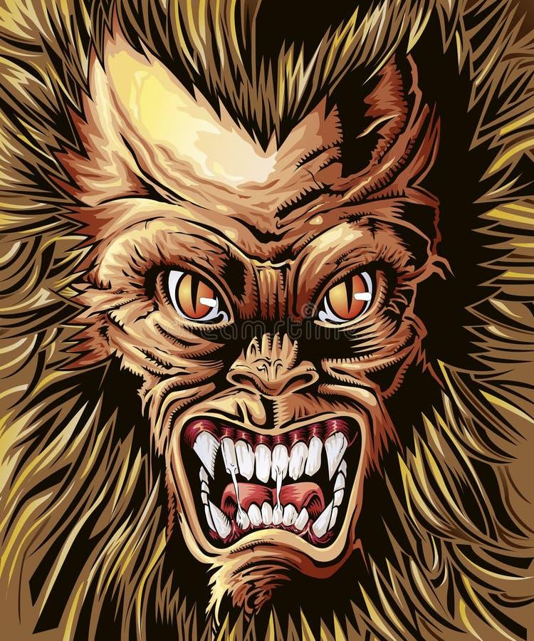 Vector royal monster background. Vector royal monster background in cartoon style royalty free illustration