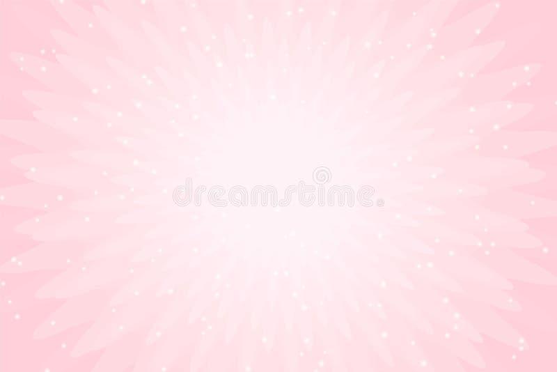 Vector roze achtergrond met lichten Behang voor weinig de uitnodigingskaart van de prinsespartij stock illustratie