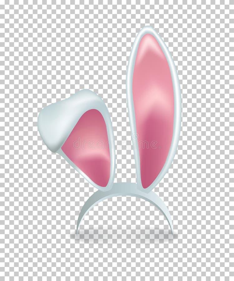 Vector roze konijnoren op transparante achtergrond vector illustratie