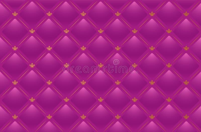 Vector roze leerachtergrond vector illustratie