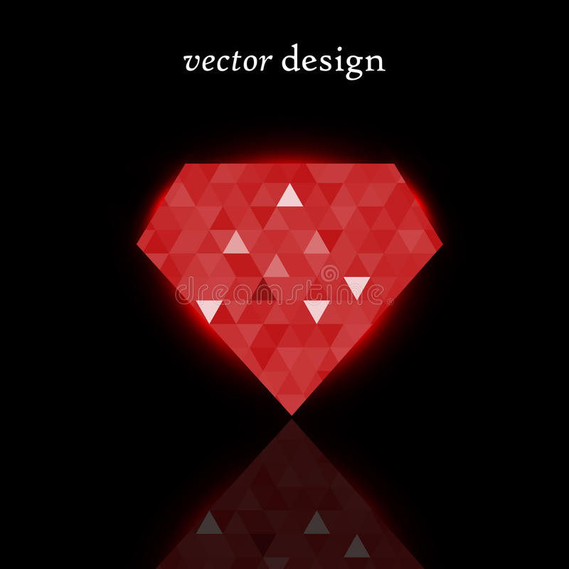 Vector Ruby. Vector illustration of a red shining ruby royalty free illustration