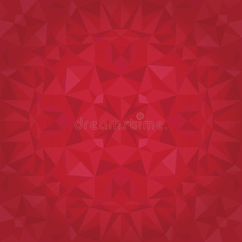 Vector Ruby Red Triangles Crystal Foil Texture Seamless Pattern. Festive and Glowing Repeat Surface Design. vector illustration