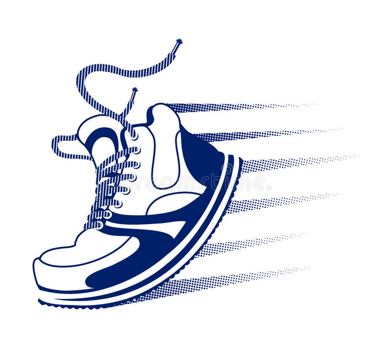 Running Shoes Vector Track