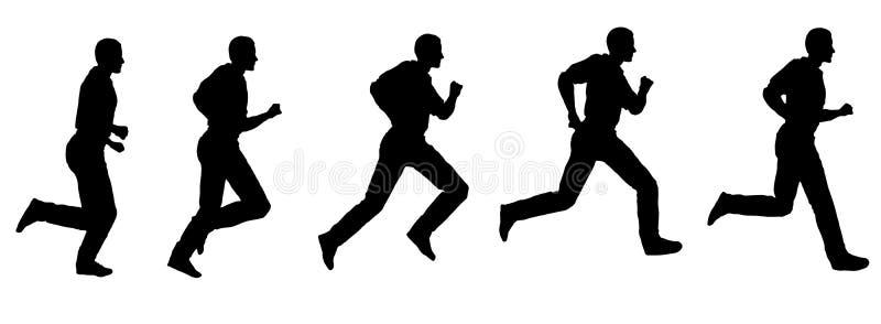 Vector running man 2. Vector running man computer generated silhouettes stock illustration