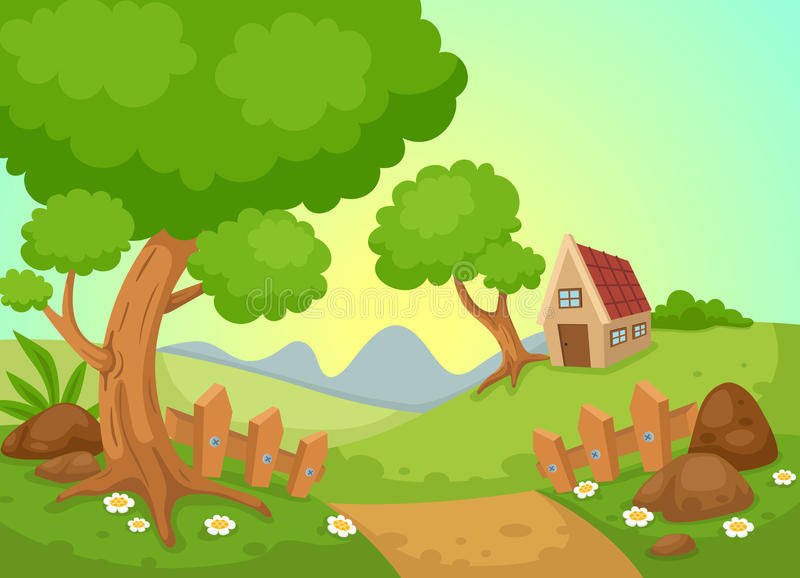 Vector rural del paisaje libre illustration