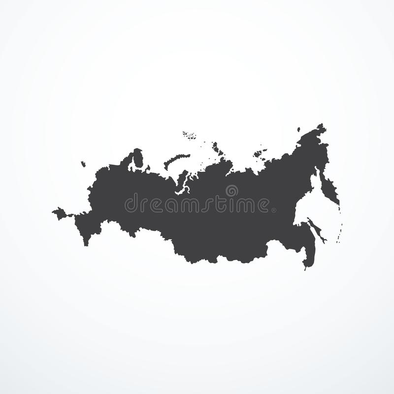 Vector Russian Federation map icon. Vector illustration eps 10 royalty free illustration