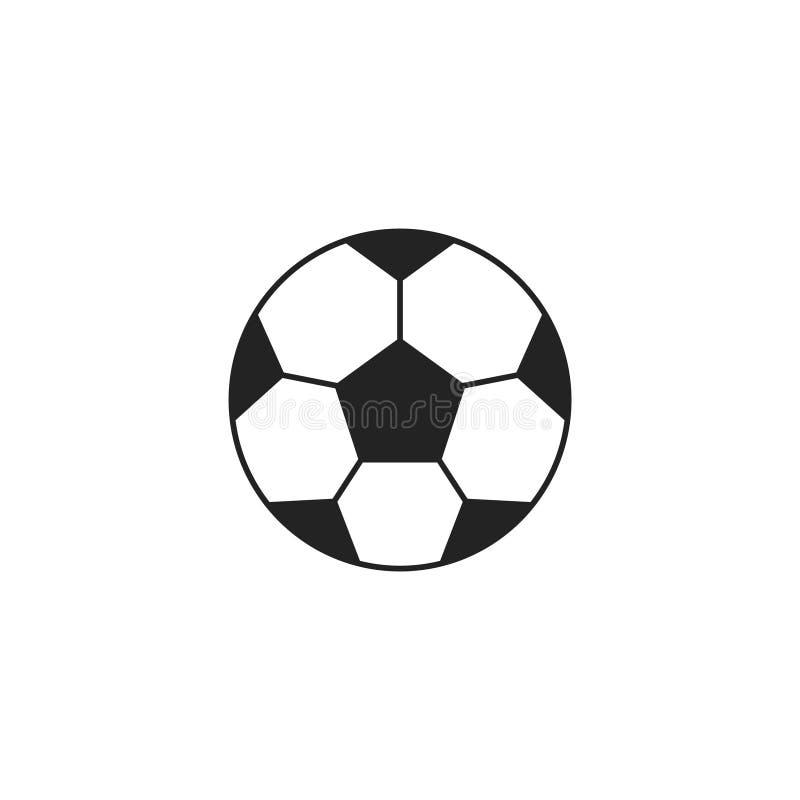 Vector, símbolo o logotipo plano del icono de la bola del fútbol stock de ilustración